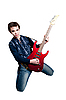 Guitarist with electric guitar | Stock Foto