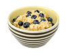 Oatmeal with blueberries in bowl | Stock Foto