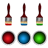 Vector clipart: set of paints and brushes