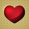 Vector clipart: red valentine heart