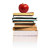 Books and apple | Stock Foto