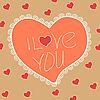 Vector clipart: Vintage Valentine heart