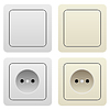 Vector clipart: Sockets and switches