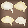 Photo 300 DPI: Paper speech bubbles