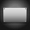 Векторный клипарт: металлическая доска для вывесок