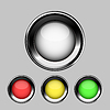 Vector clipart: Glossy buttons