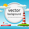 Vector clipart: ship and lighthouse
