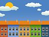 Vector clipart: city background