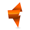 Vector clipart: Origami speech bubble
