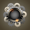 Vector clipart: Industrial abstract background