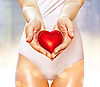 Red heart in hands | Stock Foto