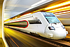 ID 3125543 | High-speed train in tunnel | High resolution stock photo | CLIPARTO