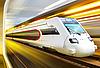 Tren rápido en el túnel | Foto de stock