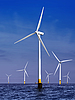 Wind turbines generating electricity | Stock Foto