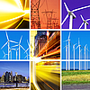 Electric power collage | Stock Foto
