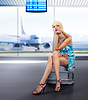 Passenger misses at airport | Stock Foto
