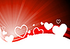 Vector clipart: valentine`s day card with hearts