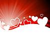 Векторный клипарт: Валентинка с сердечками