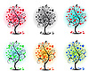 Vector clipart: trees