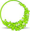Vector clipart: green frame with clover leaves
