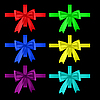 Vector clipart: multicolored ribbons