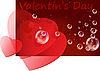 Valentine`s day card with hearts | Stock Vector Graphics