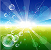 Vektor Cliparts: Blasen in den Himmel
