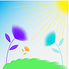Vector clipart: abstract flowers