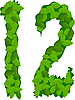 Vector clipart: figures with green leaves