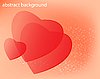 Vector clipart: valentine - heart on abstract background