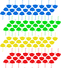 Colorful umbrellas | Stock Vector Graphics