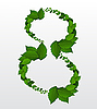 Vector clipart: number 8 leaves
