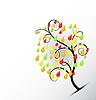 Vector clipart: pear tree