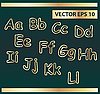 Vector clipart: gold letters