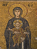 Photo 300 DPI: Ancient mosaic with Virgin Mary