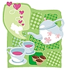 Teekessel und Cupcakes | Stock Vektrografik