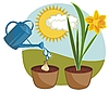 Vector clipart: Growing Daffodil