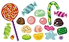 Vector clipart: Candies Set