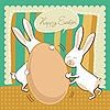 Funny Easter greeting card | Stock Vector Graphics