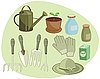 Vector clipart: Gardening Set