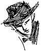 Vector clipart: Man with hat