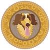 Vector clipart: Dog Medallion