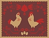 Vector clipart: Hen and Rooster