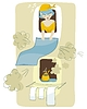 Vector clipart: Cleaning Scene