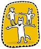 Vector clipart: Circus Dogs