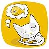 Vector clipart: Cute Cat Dreaming
