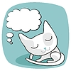 Vector clipart: Cute Cat Thoughts