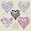 Vector clipart: Doodle Hearts