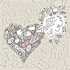 Vector clipart: Exploding Sweets Heart