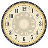 Vector clipart: Vintage Clock Face
